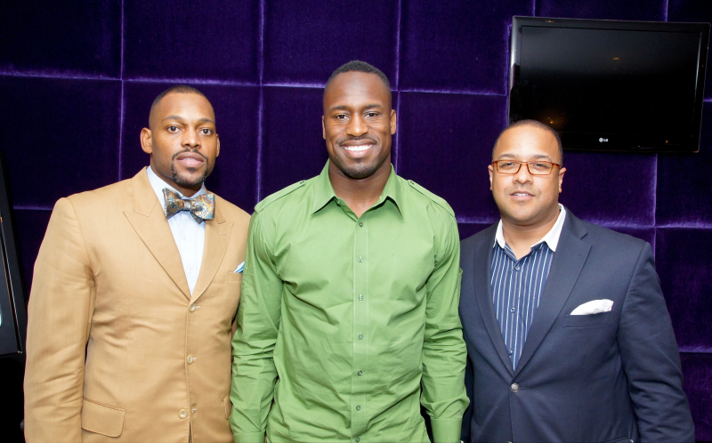 Filming Vernon Davis and Other Athletes for CNN 360