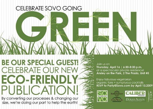 Celebrate SOVO Going Green
